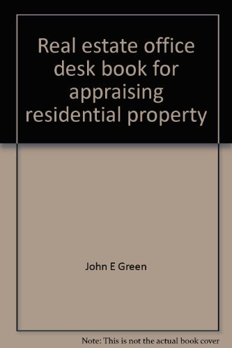 9780137649518: Real estate office desk book for appraising residential property