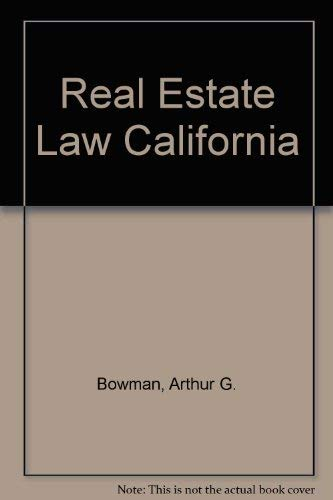 9780137671465: Real Estate Law in California