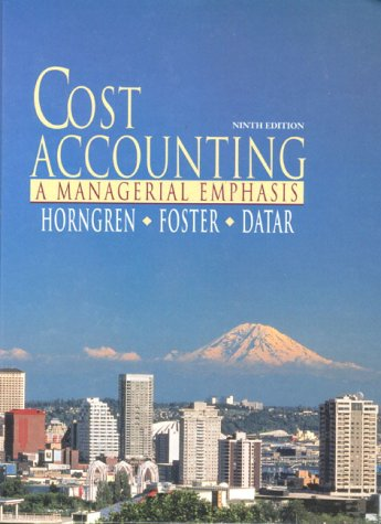 9780137689538: Cost Accounting: A Managerial Emphasis
