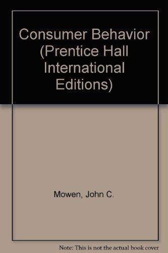 9780137700417: Consumer Behavior (Prentice Hall International Editions)