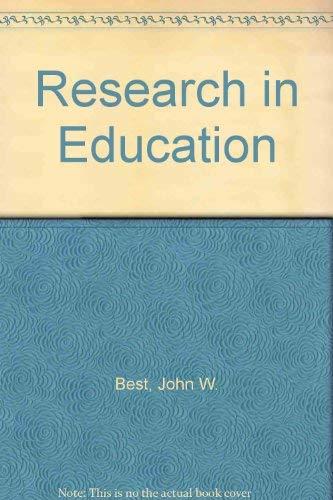 Research in Education: John W. Best