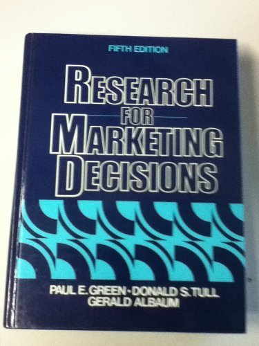 9780137741755: Research for Marketing Decisions (The Prentice Hall series in marketing)