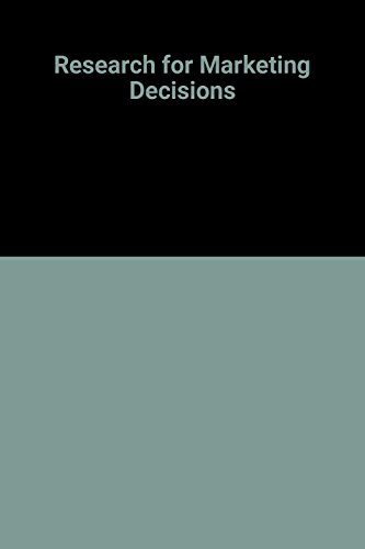 Research for Marketing Decisions: Green, Paul E. Tull, Donald S.,