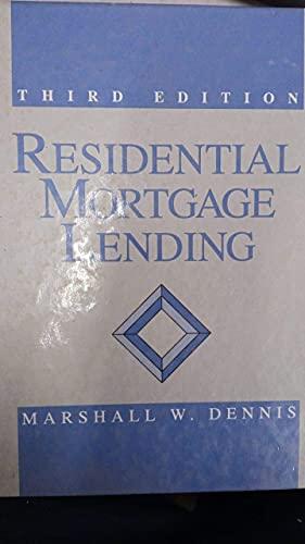 9780137750320: Residential Mortgage Lending