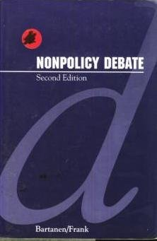 9780137767175: Nonpolicy Debate