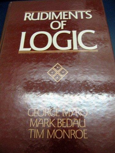 9780137836482: Rudiments of Logic