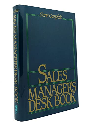 9780137865833: Sales Manager's Desk Book