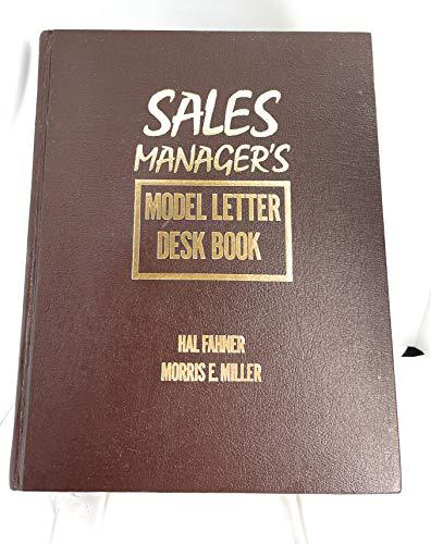 Sales Manager's Model Letter Desk Book: Hal Fahner