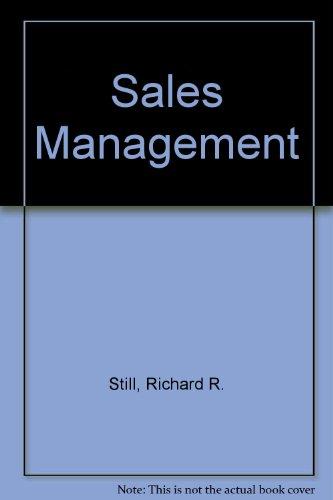 Sales Management: Still, Richard R.;
