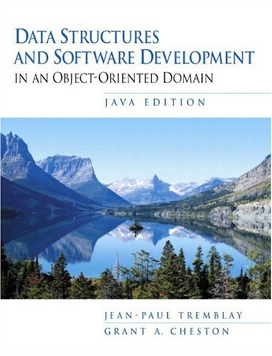 9780137879533: Data Structures and Software Development in an Object Oriented Domain, Java Edition