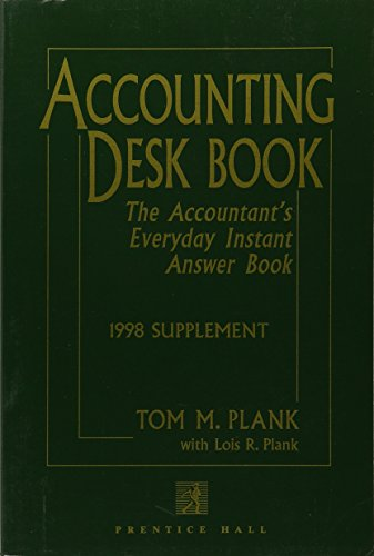 9780137894963: Accounting Desk Book: The Accountant's Everyday Instant Answer Book : 1998 Supplement