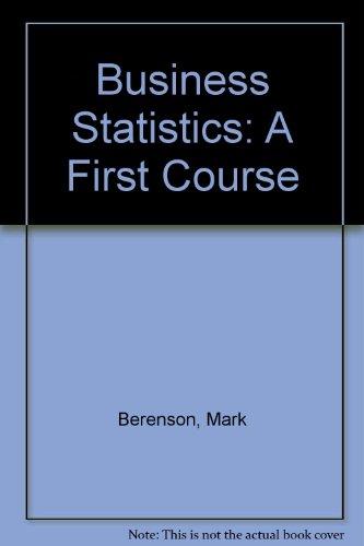 9780137906017: Business Statistics: A First Course