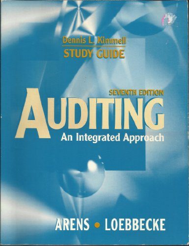9780137907595: Auditing: An Integrated Approach (Study Guide)