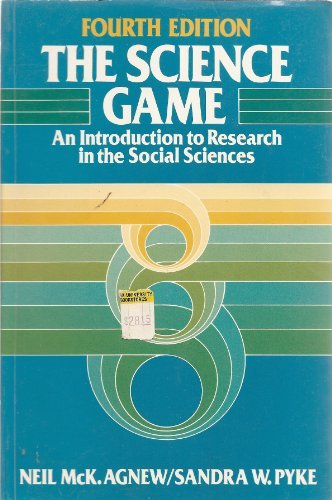 9780137952953: Science Game: Introduction to Research in the Social Sciences