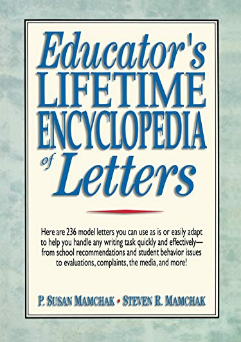 Educator's Lifetime Encyclopedia of Letters: P. Susan Mamchak,