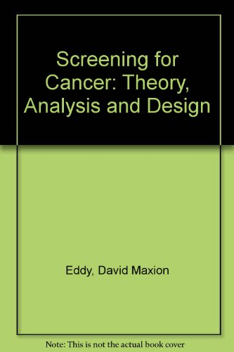 9780137967896: Screening for Cancer: Theory, Analysis and Design