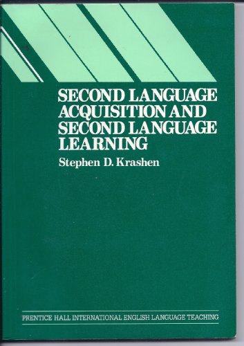 9780137981908: Second Language Acquisition and Second Language Learning