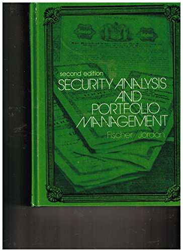 9780137988501: Security analysis and portfolio management
