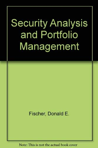 9780137988761: Security Analysis and Portfolio Management