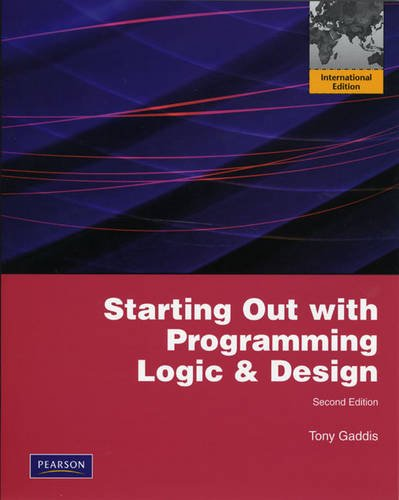 9780138001131: Starting Out with Programming Logic and Design: International Edition (Book & CD Rom)