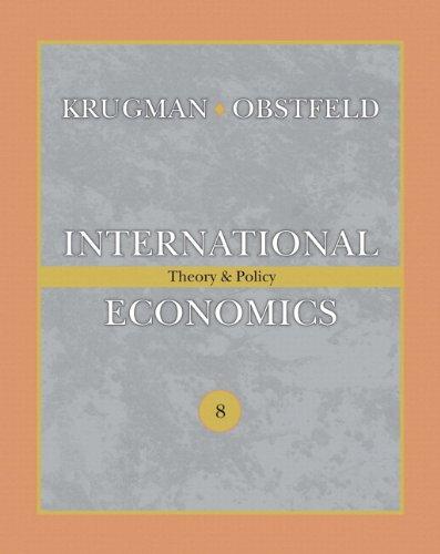 International Economics: Theory & Policy (The Addison-wesley: Krugman, Paul R;