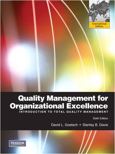 9780138003548: Quality Management for Organizational Excellence: Introduction to Total Quality: International Edition