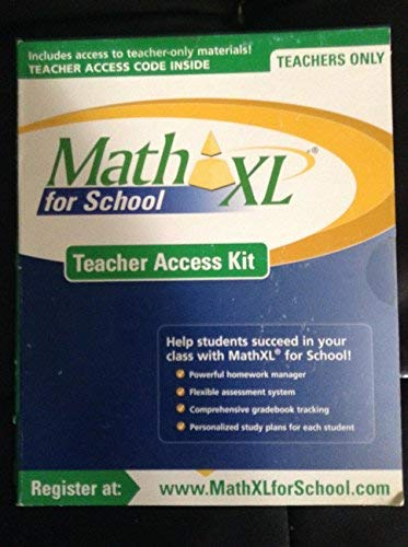 9780138003807: Math XL for school teacher access kit