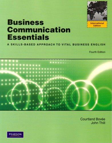 9780138004798: Business Communication Essentials: International Version