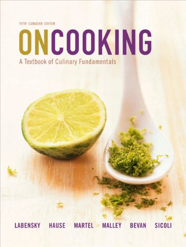 9780138009182: On Cooking: A Textbook of Culinary Fundamentals, Fifth Canadian Edition (5th Edition)
