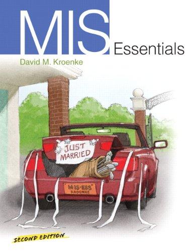 9780138018825: MIS Essentials (2nd Edition)