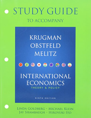 9780138019242: Study Guide for International Economics: Theory and Policy