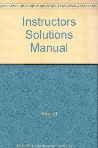 9780138047740: Instructors Solutions Manual
