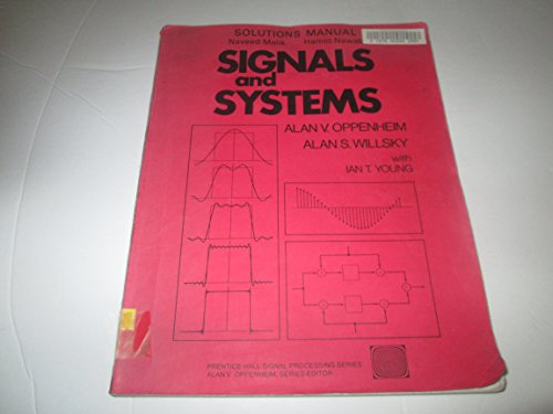 9780138097493: Signals and Systems. Solutions Manual. (Prentice Hall)