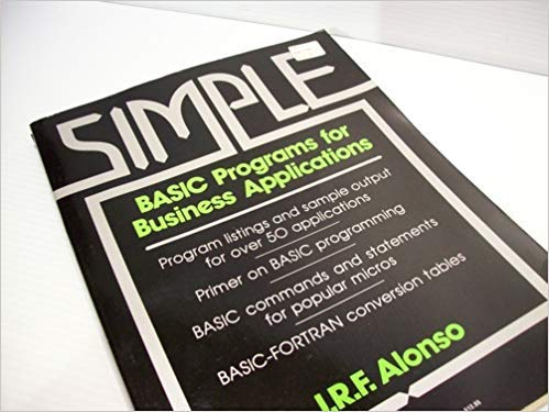 9780138098896: Simple BASIC Programmes for Business Applications