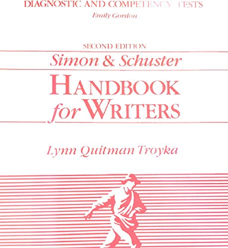 9780138107239: Diagnostic and competency tests (Simon & Schuster Handbook for writers)