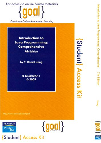 9780138126421: GOAL Student Access Code Card for Introduction to Java Programming, Comprehensive