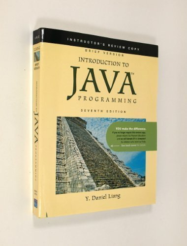 9780138126674: Introduction to JAVA Programming Brief Version (Instructor's Review Copy)