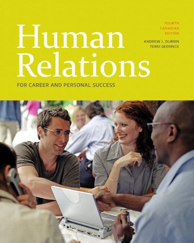 9780138127879: Human Relations for Career and Personal Success, Fourth Canadian Edition (4th Edition)
