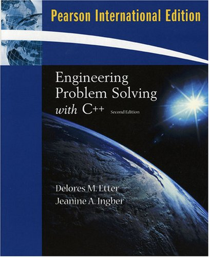 9780138129095: Engineering Problem Solving with C++ (2nd International Edition)