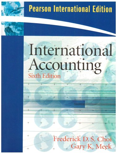 9780138133887: International Accounting: International Edition