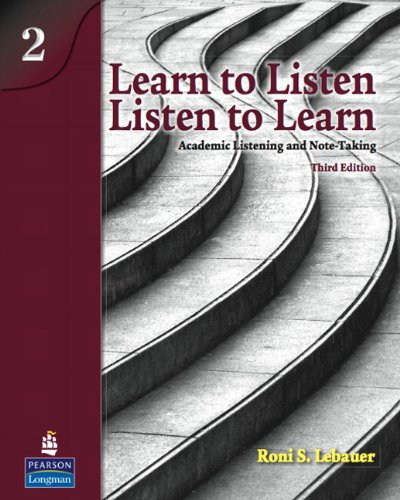 Learn to Listen, Listen to Learn, Level: Lebauer, Roni S.