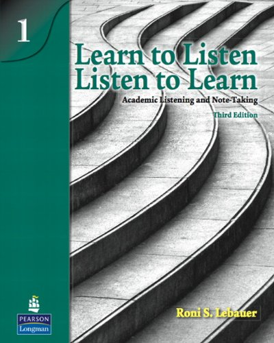 9780138140014: Learn to Listen, Listen to Learn 1: Academic Listening and Note-Taking (3rd Edition)