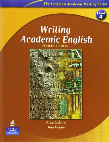 Writing Academic English with Criterion(TM) Publisher's Version (0138144540) by Alice Oshima; Ann Hogue