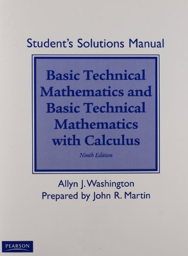 Student Solutions Manual for Basic Technical Mathematics with Calculus: Allyn J. Washington