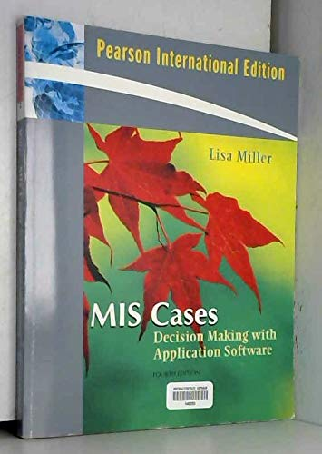 9780138146801: MIS Cases: Decision Making with Application Software