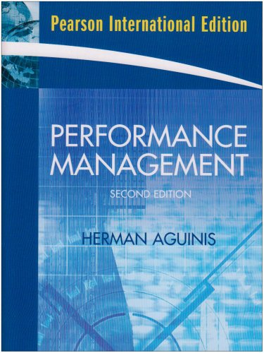 Performance Management - 2nd edition: Herman Aguinis
