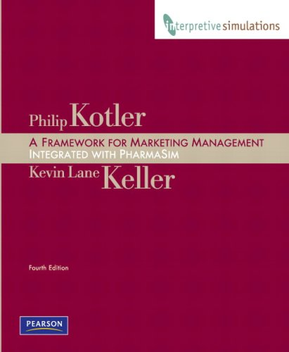9780138151690: Framework for Marketing Management: Integrated PharmaSim Simulation Experience and Interpretive Simulations Access Code Card Group B Package (4th Edition)