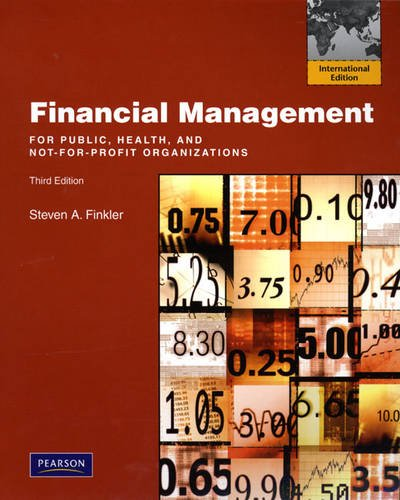 9780138152772: Financial Management for Public, Health, and Not-for-Profit Organizations: International Version