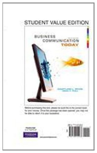 9780138155063: Business Communication Today, Student Value Edition