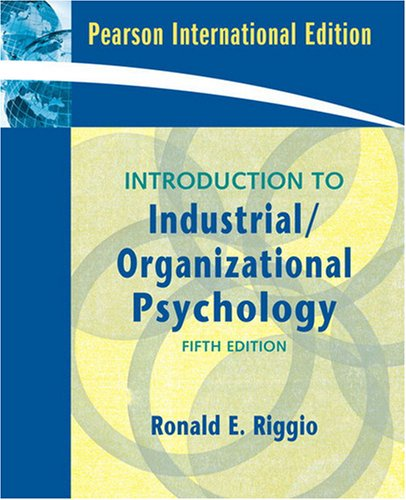 9780138158125: Introduction to Industrial/Organizational Psychology